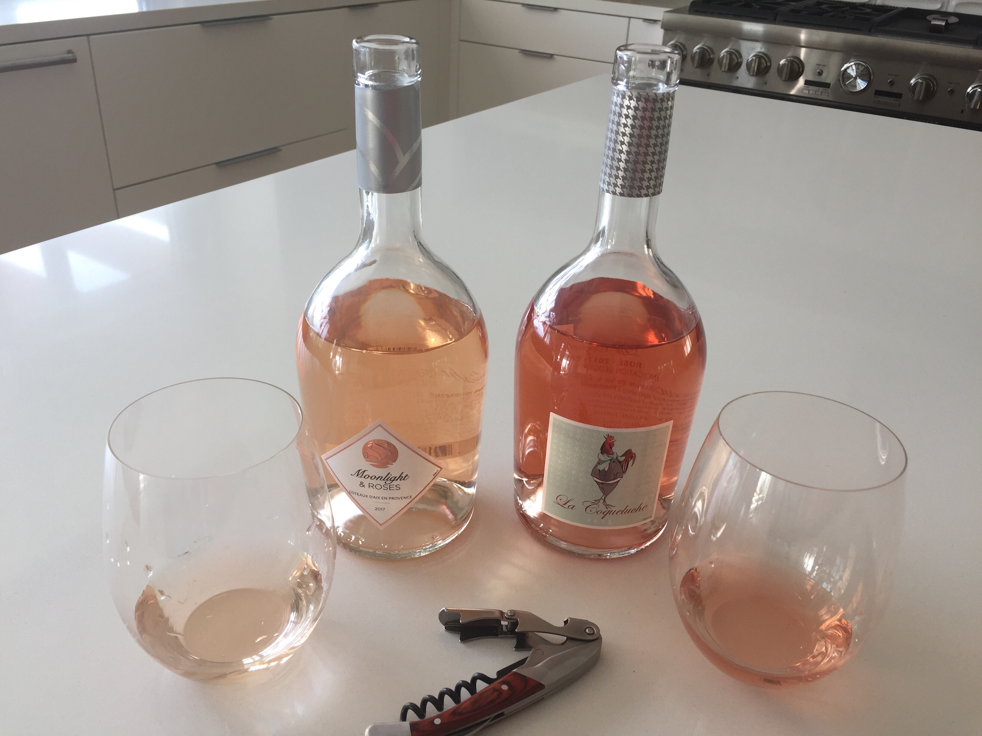 2017 Moonlight and Roses from Coteaux d' Aix-en- Provence and 2017 La Coqueluche Vin d' Pays D'Oc