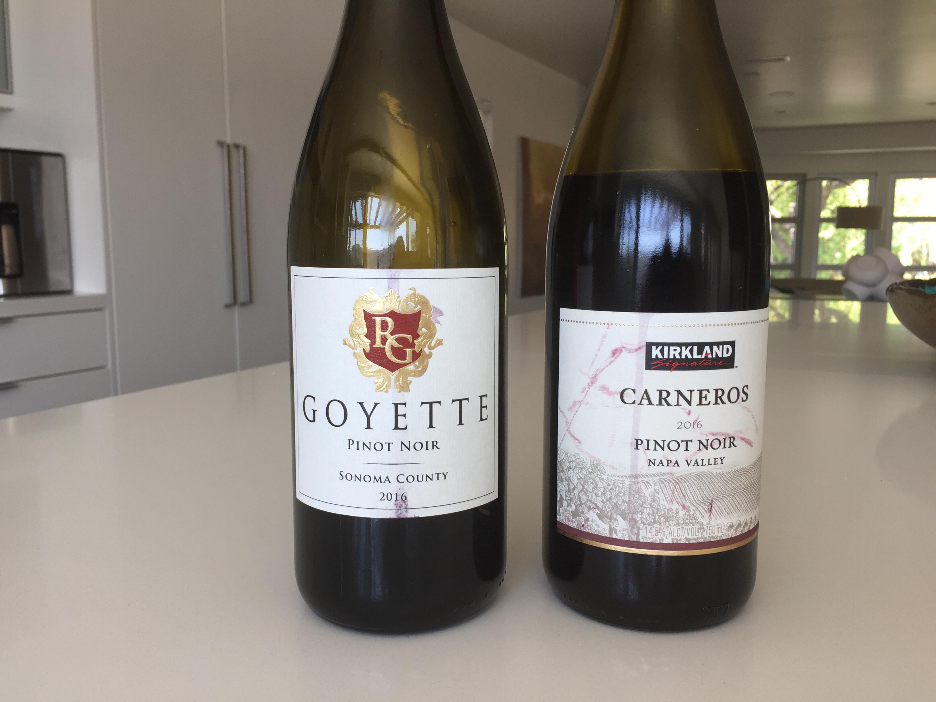 2016 Goyette Sonoma County Pinot Noir & 2016 Goyette Sonoma County Pinot Noir