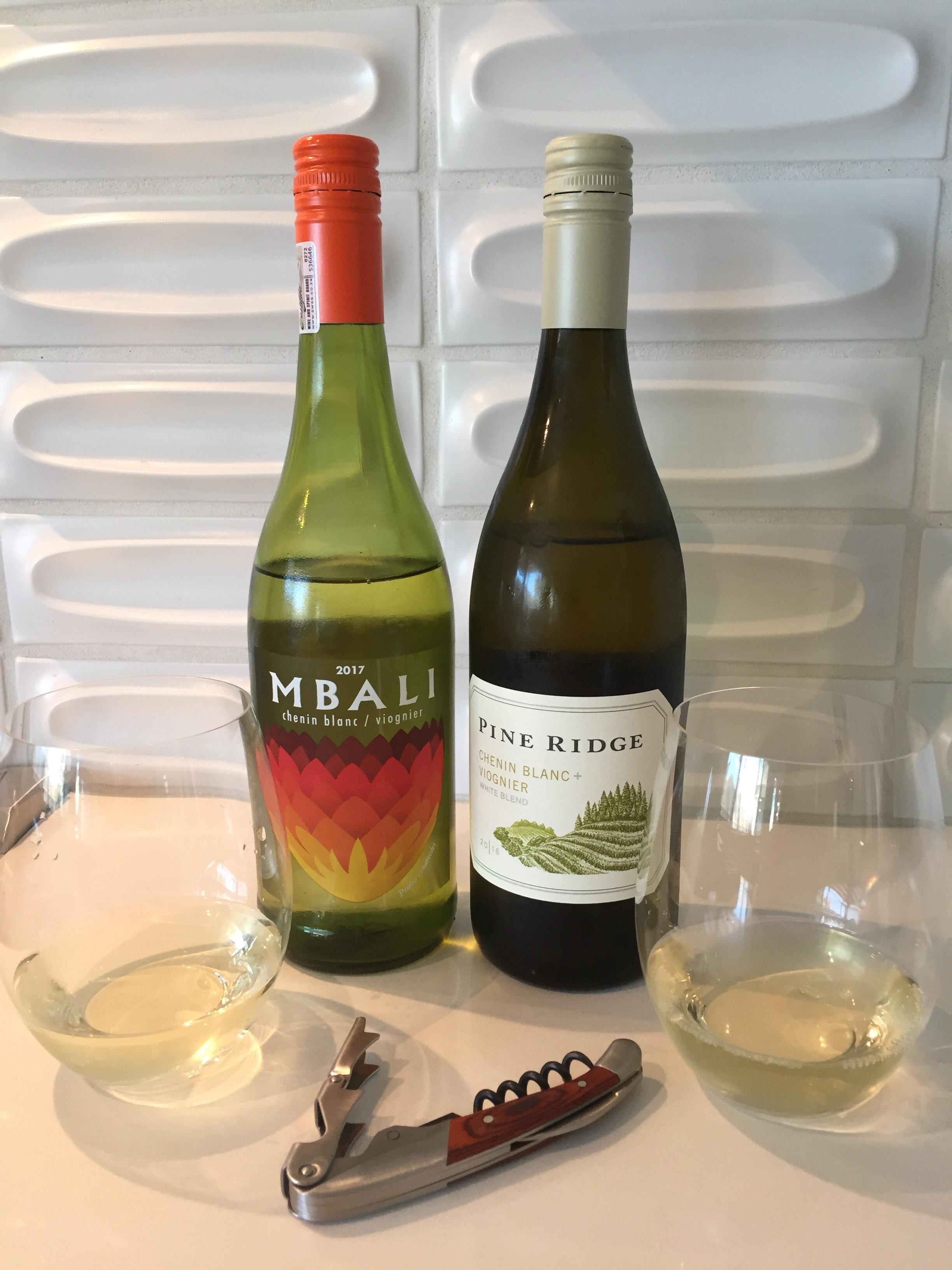 2017 Mbali Chenin Blanc/Viognier & 2016 Pine Ridge Chenin Blanc + Viognier
