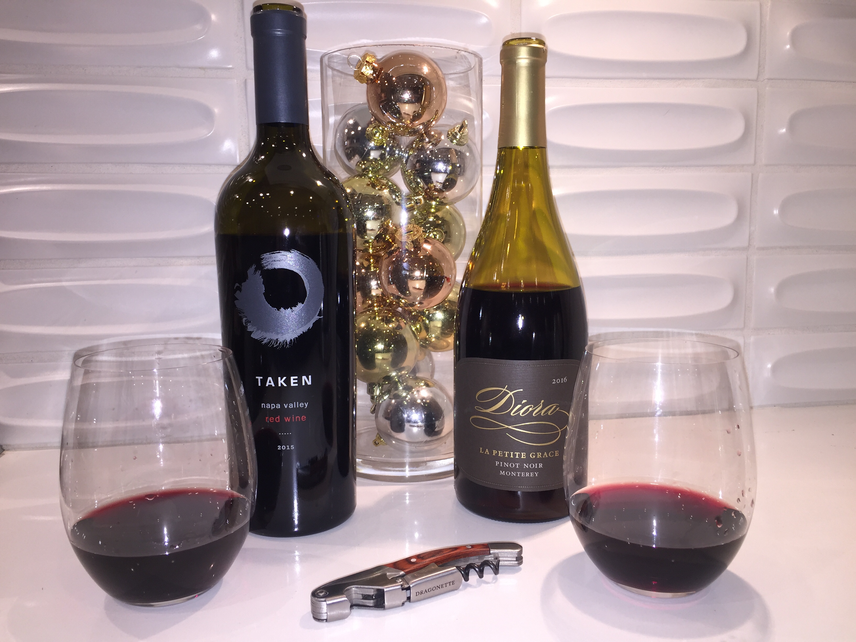 2015 Taken Napa Valley Red Wine & 2016 Diora Monterey Pinot Noir