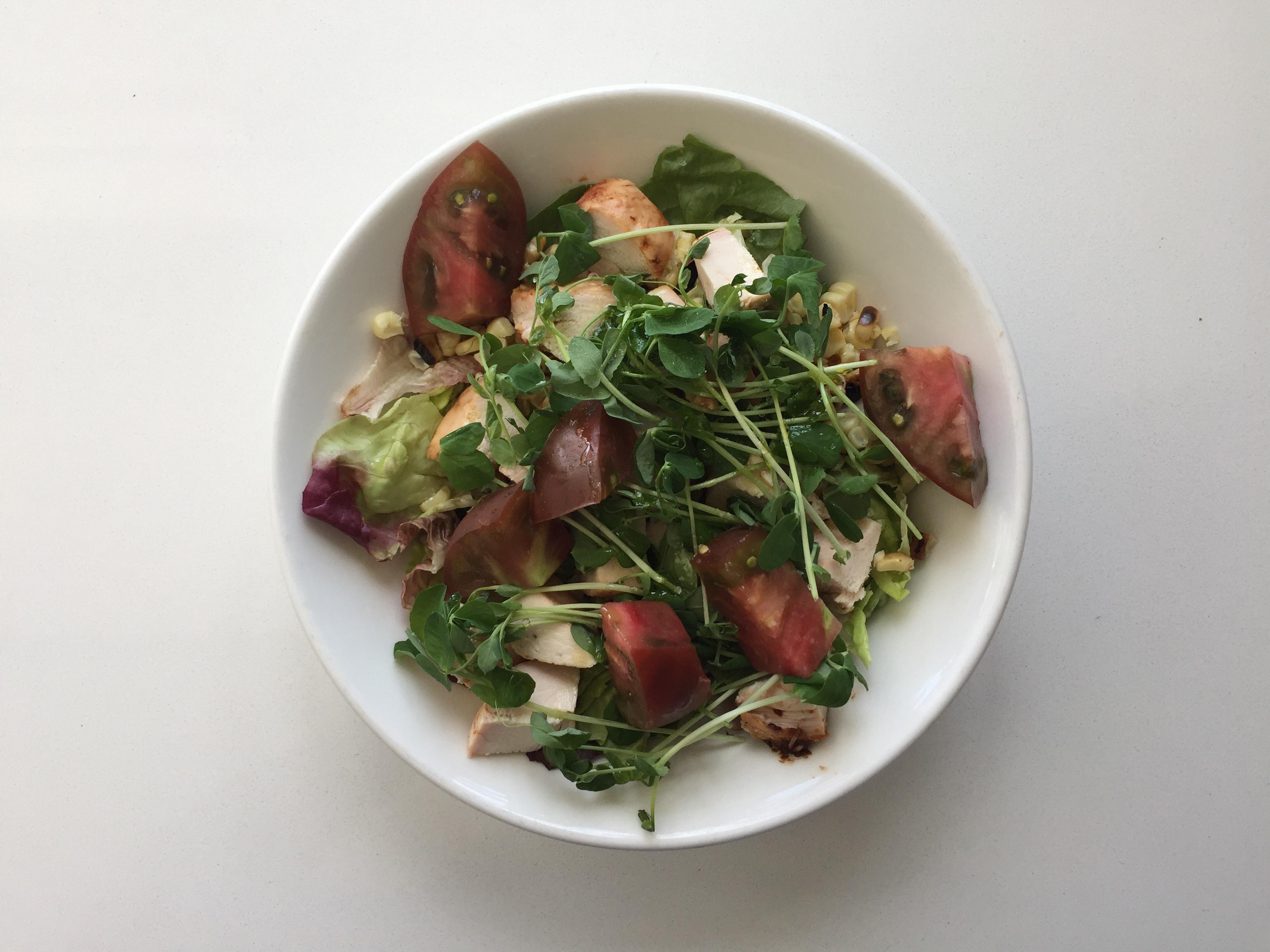 Chicken salad in a bowl.