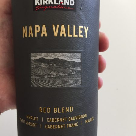 Label of Kirkland Signature Napa Valley Red Blend - $10.99 at Costco (California)