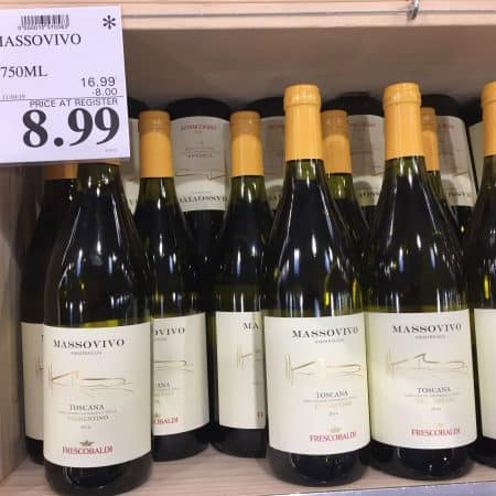 Massovivo 2016 Vermentino in display bin at Costco