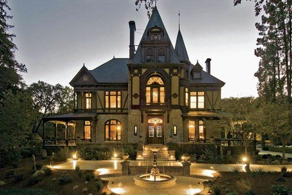The historic Rhine House at Beringer Winery in St. Helena, CA