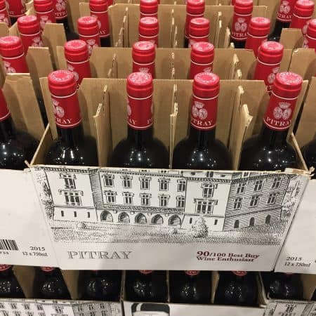 Chateau Pitray case-stacked at Costco.