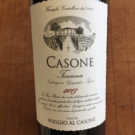 Front label of 2013 Casone Toscana