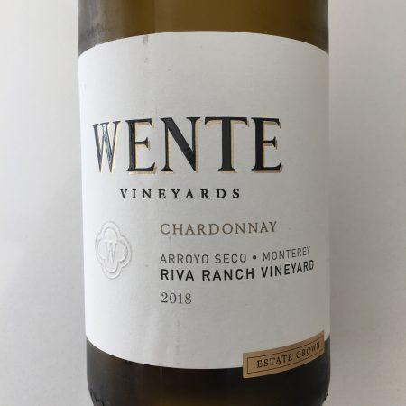 Front label of Wente Vineyards 2018 Riva Ranch Vineyard Chardonnay