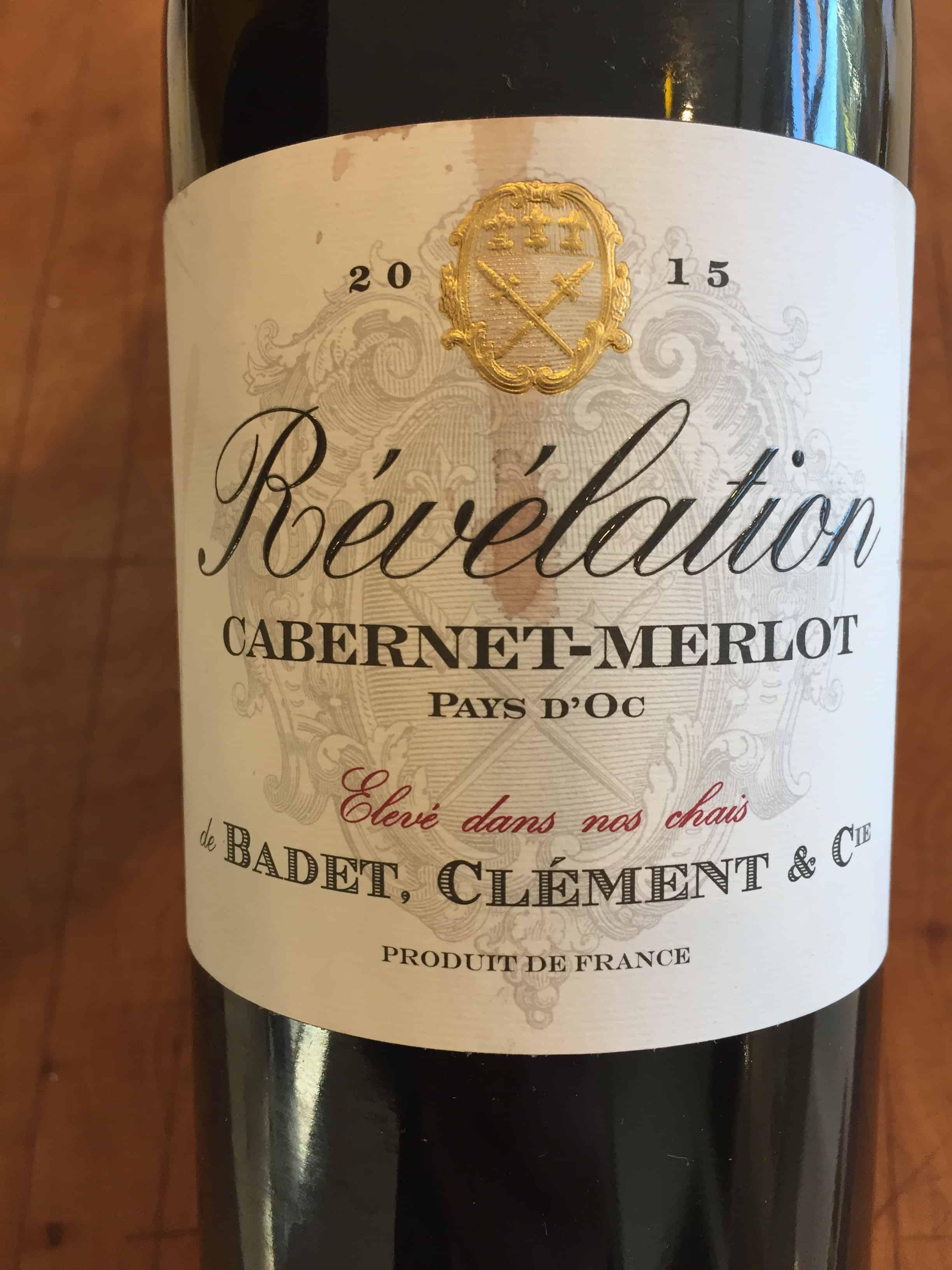 Front label of Revelation Cabernet=-Merlot from Trader Joe's