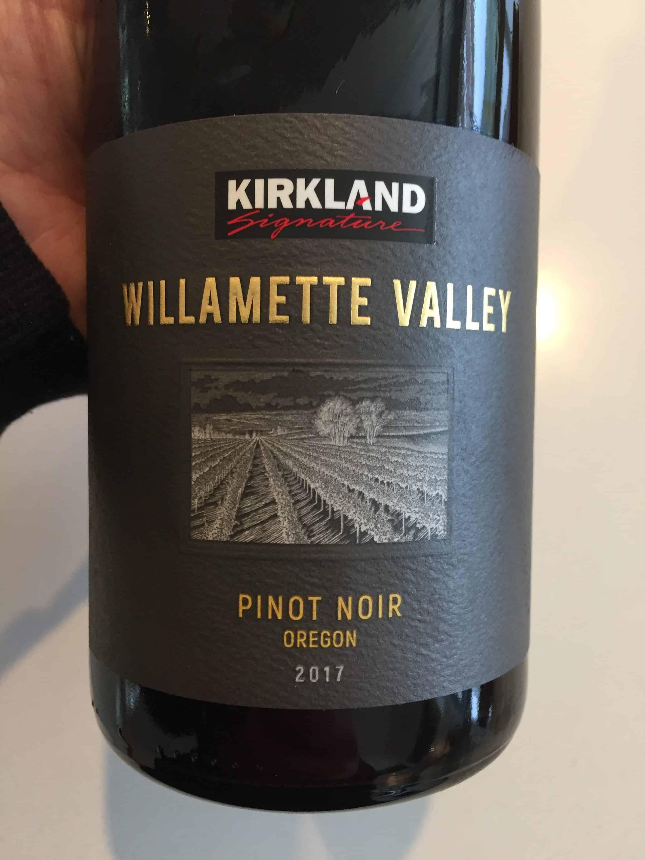 Front label of Kirkland Signature Willamette Valley Pinot Noir 2017