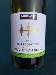 Front label of Kirkland Signature Ti Point Sauvignon Blanc from Costco