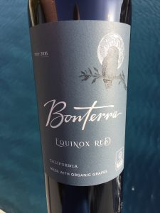 Front label of Bonterra 2015 Equinox Red Blend