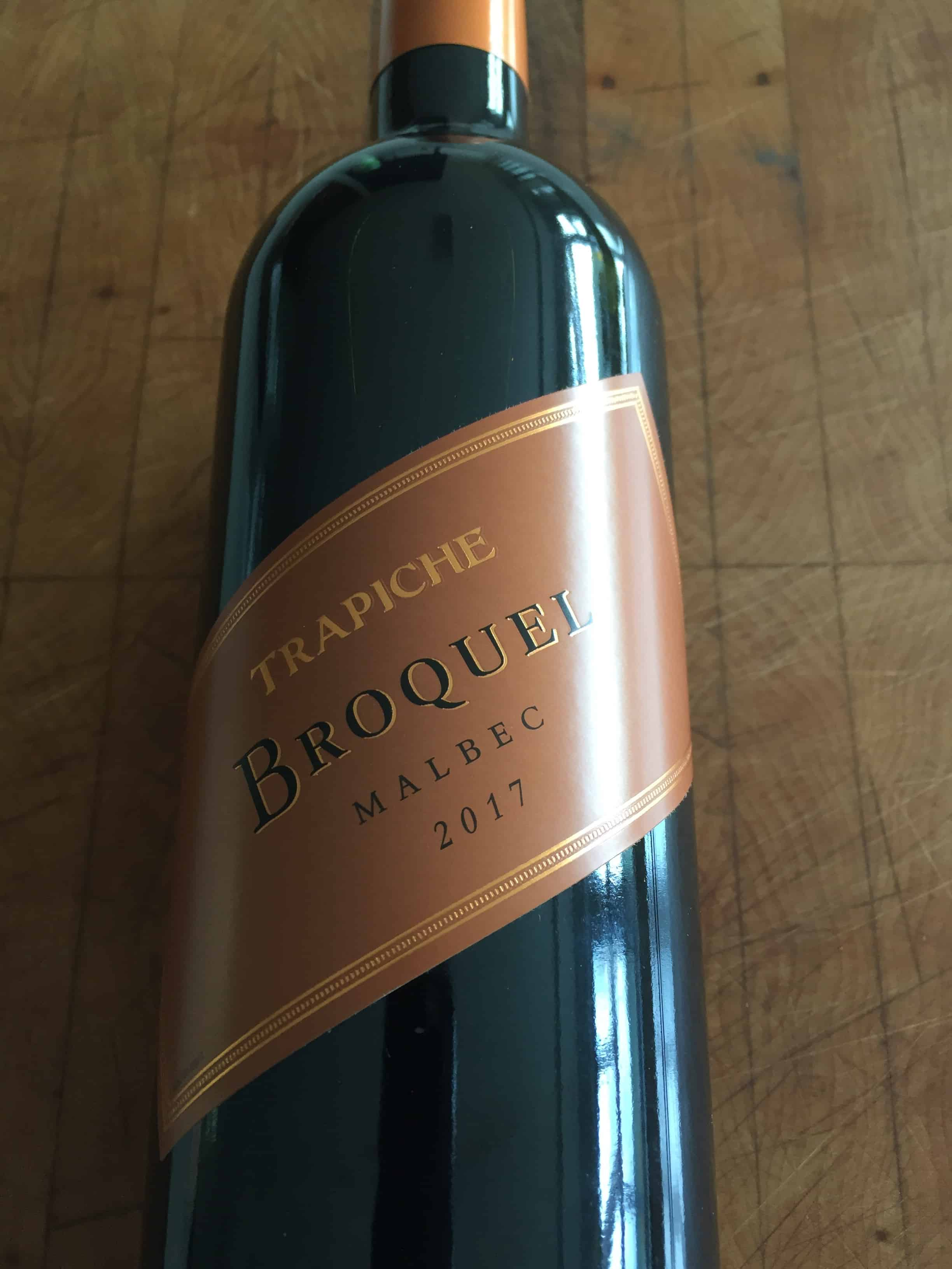 Front label of Trapiche Broquel 2017 from Trader Joe's
