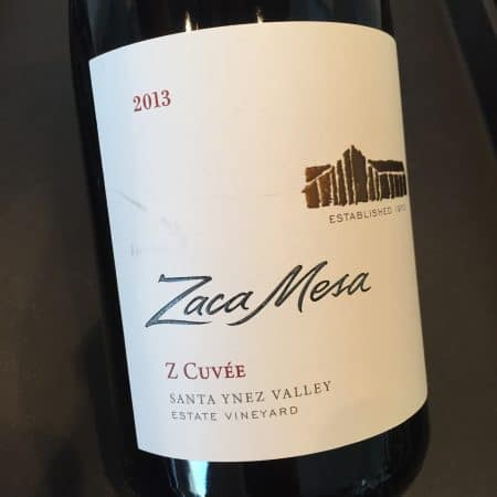 Close up of the label of 2013 Cuvee Z from Costco