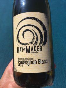 Label of Haymaker 2018 Sauvignon Blanc from Trader Joe's