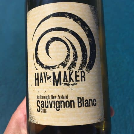 Label of Haymaker 2018 Sauvignon Blanc from Trader Joe's