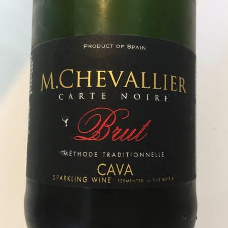 Front label of M. Chevallier Cava from Trader Joe's