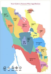 Map of Sonoma Wine Appellations