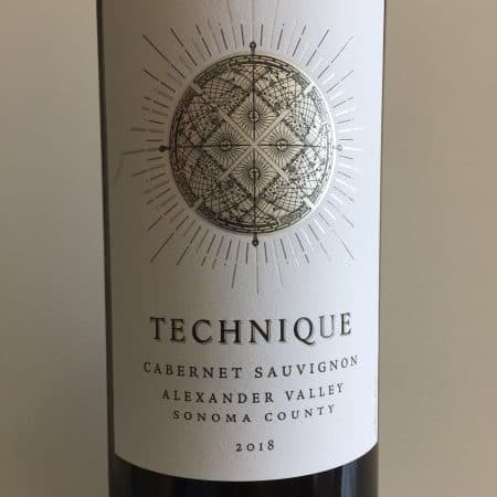 Photo of front label of Technique 2018 Cabernet Sauvignon from Trader Joe's