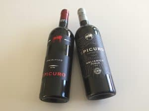 The Primitivo on the left, the Aglianico on the right. Both from Epicuro. Both from Trader Joe's. Both $4.99. Most importantly, both are solidly satisfying.