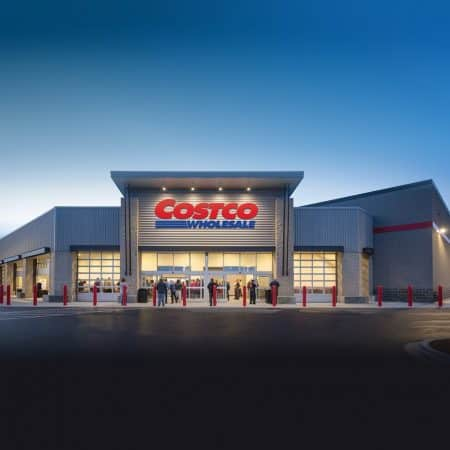Photo of front of a Costco store