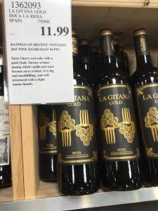 Costco bin of La Gitana Gold 2015 Rioja Riserva