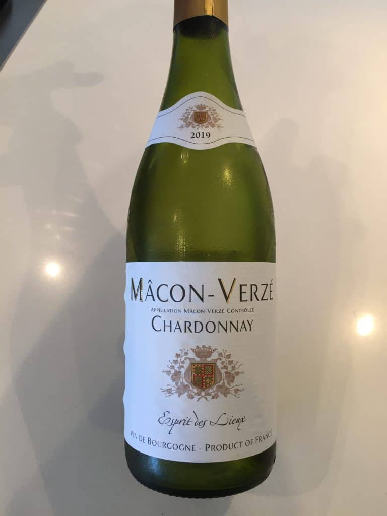 Front label of Macon Verze 2019 from Trader Joe's