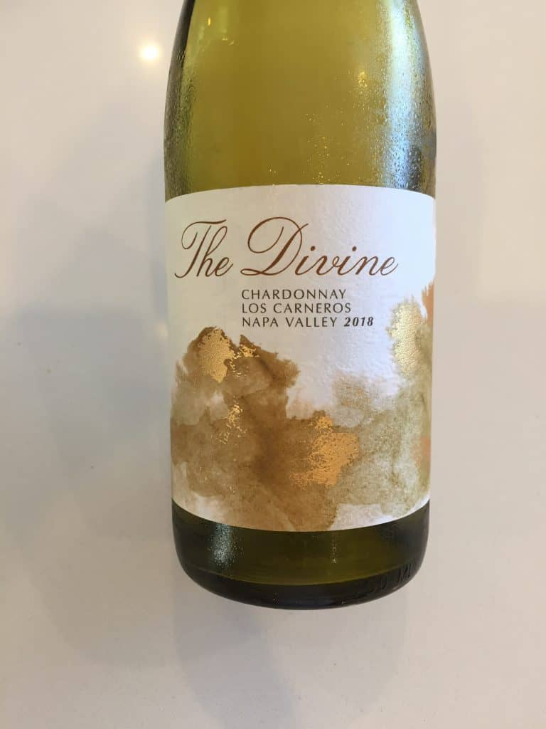 Front label of The Divine, Los Carneros 2019 Chardonnay from Trader Joe's