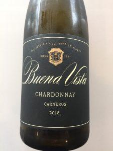 Front label of Buena Vista Winery 2018 Carneros Chardonnay from Trader Joe's