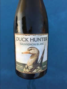 Front label of the Duck Hunter 2019 Sauvignon Blanc from the fine folks at Costco