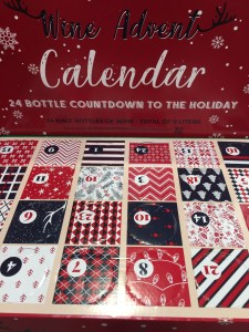 Photo of Costco's 2020 Wine Advent Calendar which includes 24 half bottles of wine