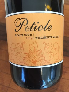 Front label of 2019 Petiole Pinot Noir from Trader Joe's