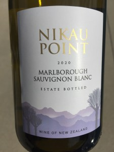 Front label of the Nikau Point 2020 Sauvignon Blanc from Trader Joe's