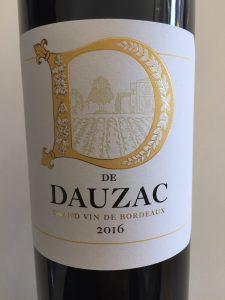 Front label of De Dauza Red Bordeaux blend from Costco