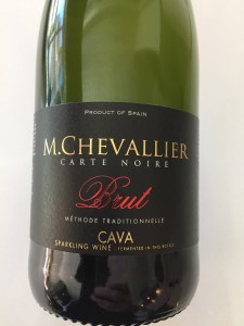 Front label of M. Chevallier Brut Cava from Trader Joe's