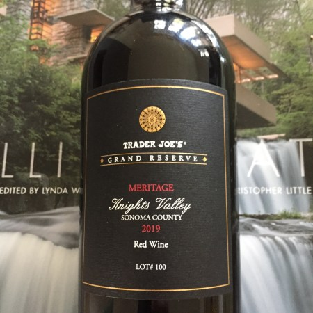 Front label of 2019 Trader Joe's Grand Reserve Knights Valley Meritage Lot #100