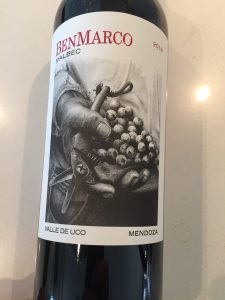 Front label of 2018 Ben Marco Argentinean Malbec
