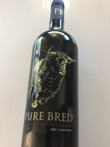 Front label of 2017 Pure Bred Old Vine Zinfandel from Trader Joe's