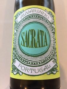 Front label of 2019 Sacrata Alvarinho