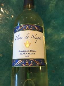 Front label of Fleur de Napa 2019 Sauvignon Blanc from Trader Joe's