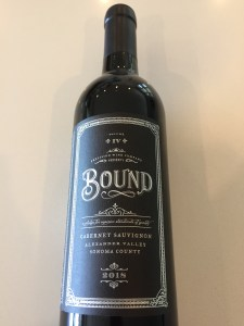 "Front label of Precision Wine""s Bound 2018 Cabernet Sauvignon"
