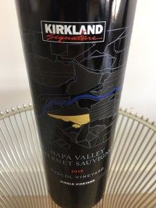 Front label of 2018 Kirkland Signature Cabernet Sauvignon, Suscol Vineyard, Napa Valley