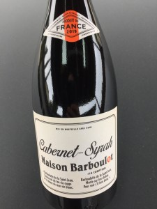 Front label of Maison Barboulot red wine from Trader Joe's