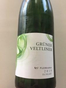 Floriana 2019 Gruner Veltliner front label - white wine from Trader Joe's