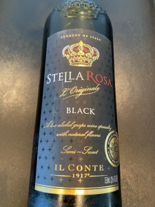 Front label of Stella Rosa Black from Costco