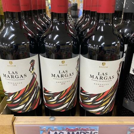 Trader Joe's shelf display of Las Margas 2018 Garnacha