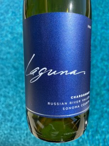 Front label of Laguna 2018 Russian River Valley Chardonnay from Costco.