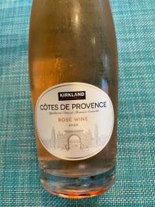 Front label of Costco Kirkland Signature 2020 rosé
