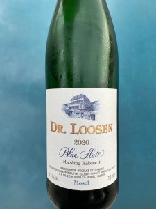 Front label of Dr. Loosen 2020 Blue Slate Riesling Kabinett from Costco