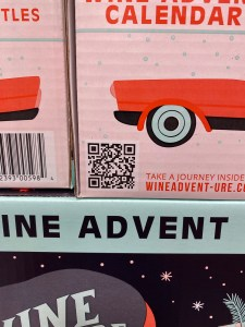 Scan this QR code for the full 411 on all 24 wines in the Costco Wine Advent Calendar
